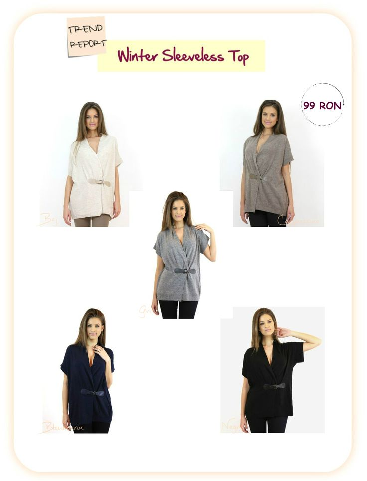 Promote the sleeveless top #trend and build up and inspiring casual outfit with items available at www.famevogue.ro...:)  #tops #style #fashion #casual #2015 #trends
