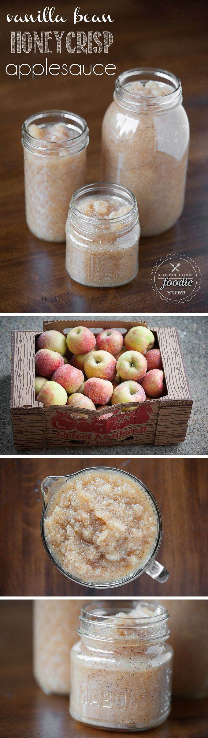This Vanilla Bean Honeycrisp Applesauce recipe makes by far the best applesauce you will ever eat, and its so sweet you won't believe its made without sugar!