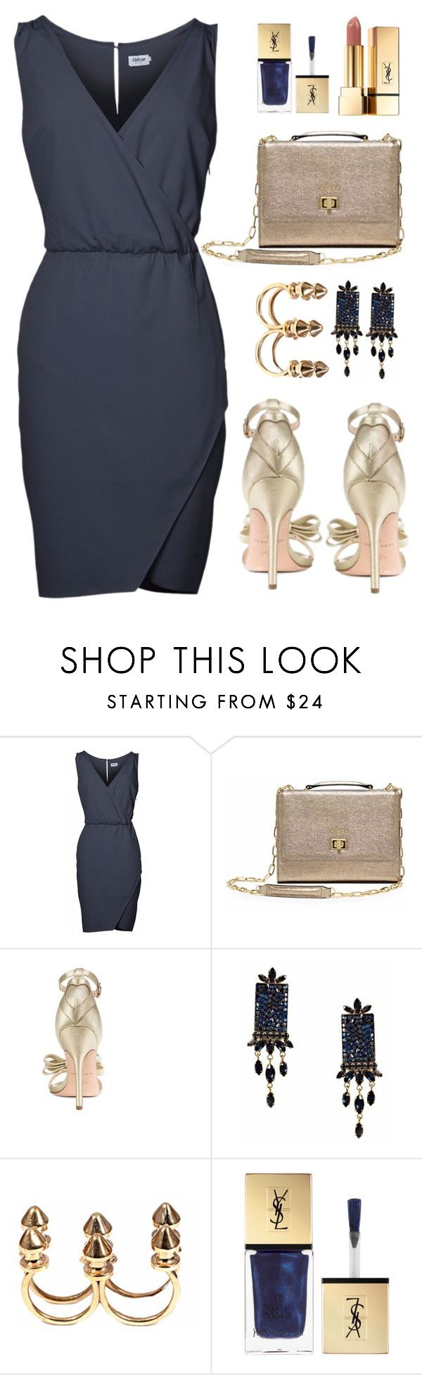 """Date night outfit inspiration!"" by runway2street ❤ liked on Polyvore featuring Isa Tapia, Otazu, Bernard Delettrez and Yves Saint Laurent"