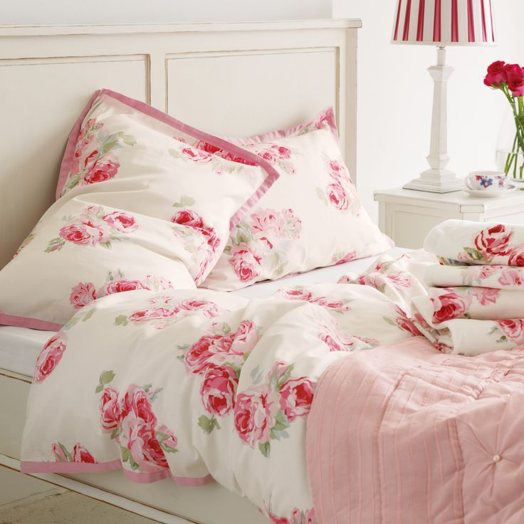 Couture Rose Cotton Duvet Cover in King £ plus pillowcases   Laura Ashley
