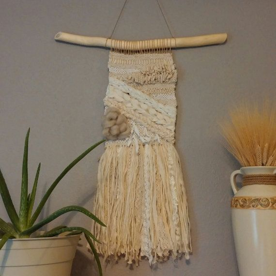 Hey, I found this really awesome Etsy listing at https://www.etsy.com/listing/270735109/neutral-whites-woven-wall-hanging-and