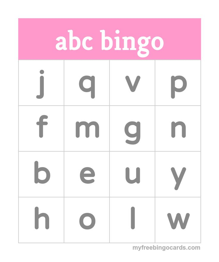 Kids abc Alphabet Bingo