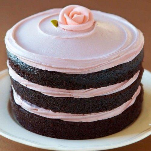 simply beautiful: Cake Recipe, Chocolates Cake, Pretty Cake, Rose Cake, Layered Cake, Chocolate Cakes, Simple Cake, Pink Cake, Tomboys Cake