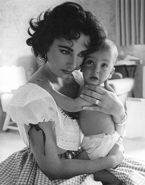 Elizabeth with her son Christopher Wilding 1955