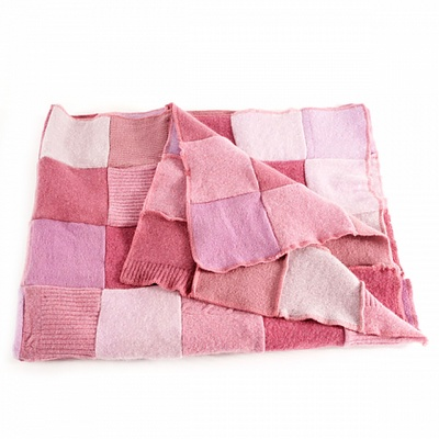 Take a few of those old wool blankets, cut out squares and repurpose into a kickass quilt. Sounds good to me!