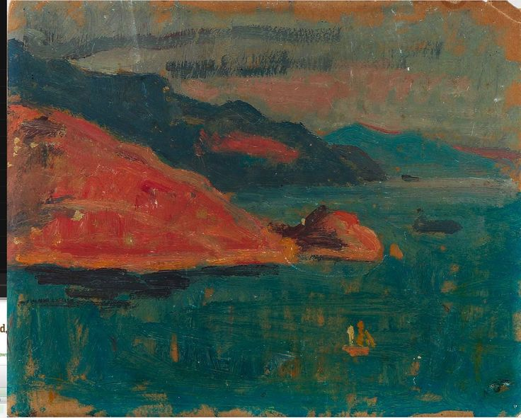 Einar Wegener:  Oil on Board:  Seascape.