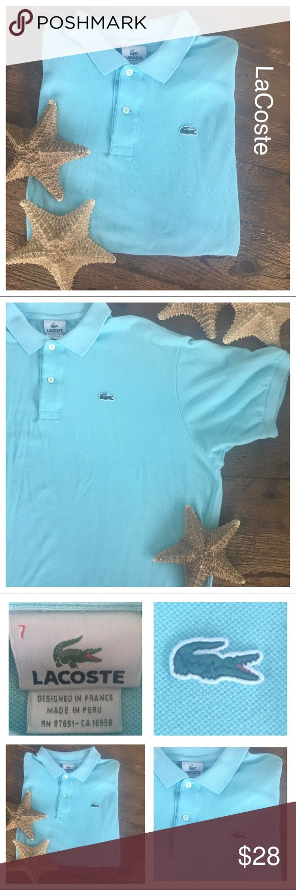 LACOSTE sharp & comfy cotton pique men's polo PRICE IS FIRM  UNLESS BUNDLING! LACOSTE Men's short sleeve cool and comfy polo.  The color is Eden. The size is European and reads 7 which, is equivalent to a size XXL in U.S.A. Classic fit. In excellent condition but, shows minor normal wash wear.   René Lacoste's iconic creation: our timeless petit piqué knit polo is soft, durable, and endlessly stylish. A must have in multiple colors. 100% Cotton Classic Fit Ribbed Collar And Armbands…