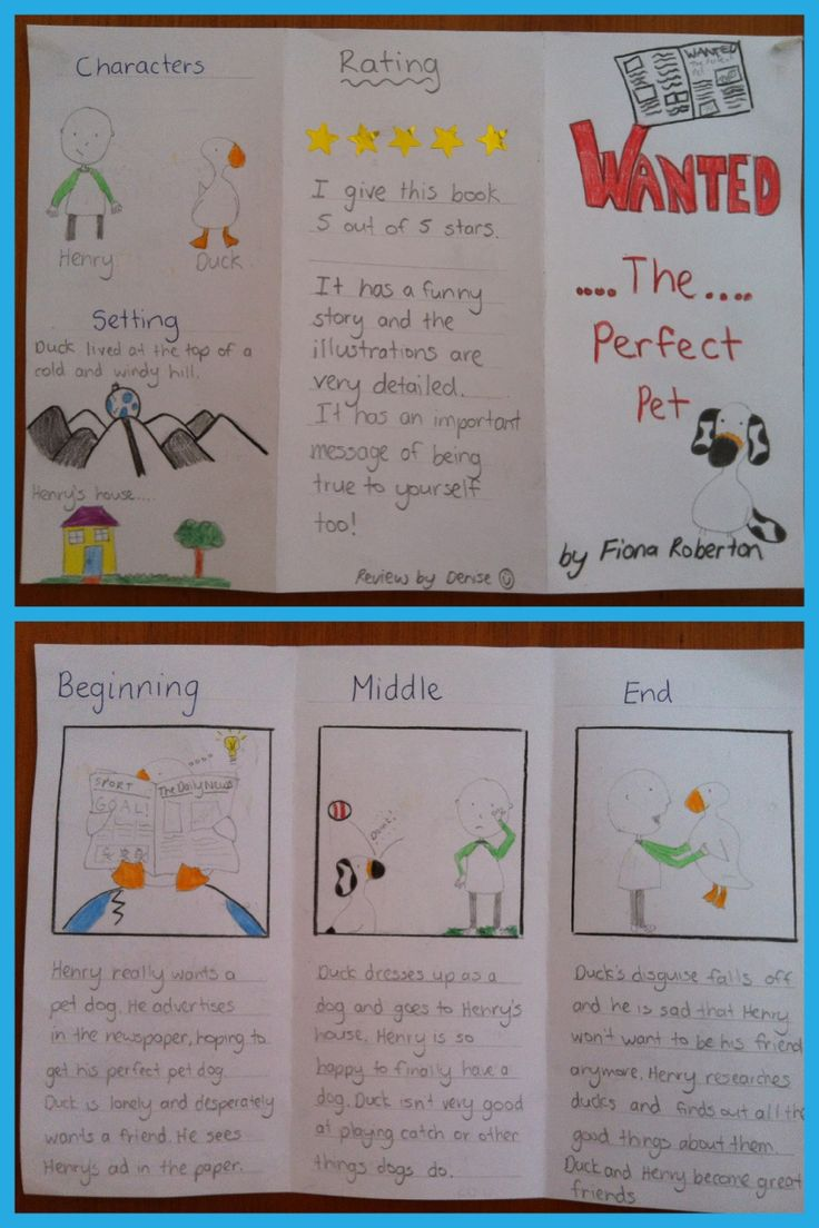 Simple Book Review Pamphlet | Relief Teaching Ideas
