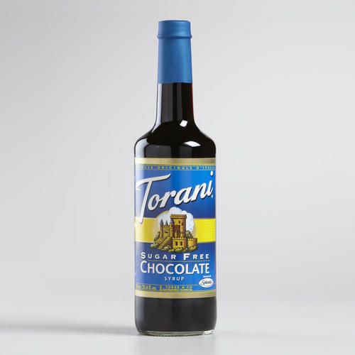 One of my favorite discoveries at WorldMarket.com: Torani Sugar Free Chocolate Syrup A sugar free version of their rich dark Chocolate Milano, Torani Sugar Free Chocolate Syrup adds exquisite flavor to your coffee, latte or steamed milk without all the calories. The intense cocoa quality is reflected in its deep brown hue and rich aroma.