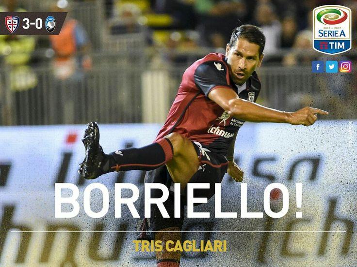 Cagliari 16, Marco Boriello doblete ante el Atalanta