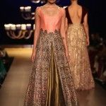 "Manish Malhotra famous Indian fashion designer has recently revealed its bridal wear collection at India Couture Week 2014 held in New Delhi. Manish Malhotra has named this collection as ""Portraits"""