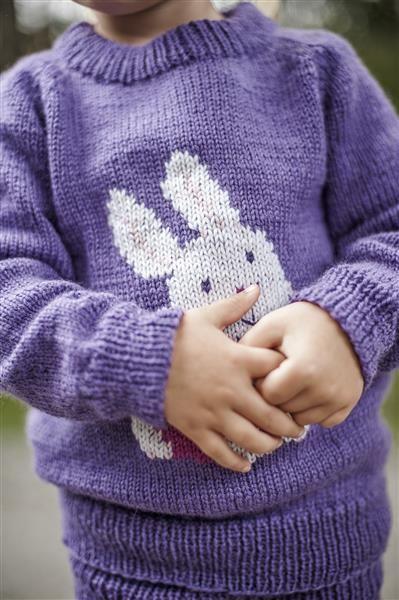1418: Modell 4 Frøken kanin genser  #Karsten #Petra #Løveungen #FrøkenKanin #strikk