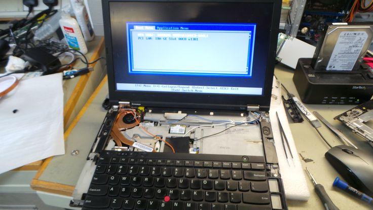 Carte mère réparée, tests et remontage de l'ordinateur.  Lenovo Thinkpad T430 Réparation carte mère à Aix en Provence
