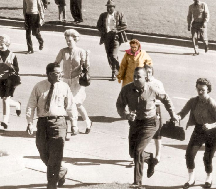 In the hours and days following the assassination of President John F. Kennedy, investigators would rely heavily on statements by spectators of the motorcade. Clearly shown in several photographs is a woman with what appears to be a camera of some kind in front of her face. Photographic evidence shows that instead of running away after the shots were fired, as many people did, the Babushka Lady continued filming the procession.  She never came forward.