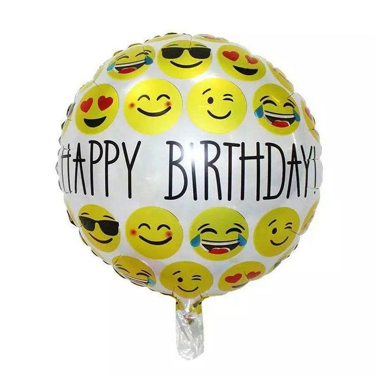 1 PCS happy birthday expression balloons Emoji foil ballon for birthday party decoration balloon