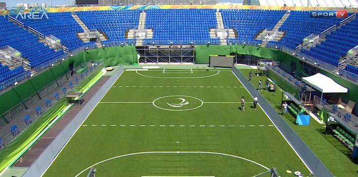 Quadra de tênis da Rio 2016 vira campo de futebol para Paralimpíada #sportv