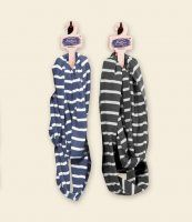 Blue Fog or Quarry Gray Stripe Organic Cotton Infinity Scarf. A great deal at only $10.95 ea.