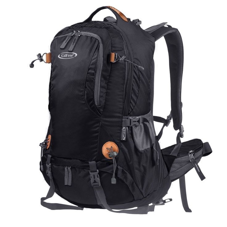 G4Free 50L Outdoor Backpack Camping Climbing Hiking Backpack For Backpacker Unisex Bag with Rain Cover(Black). BACKPACK MATERIAL: Water Resistant Nylon, high quality pull string zippers, good ventilation, no deformation, Super versatile and multi-functional. Comparable to the High Sierra, Teton and Everest Backpacking Backpacks. Large Bearing Capacity: 50L. Size: 13.7 x 9 x 22.8 inches. MANY POCKETS: One Large Front Zipper Pocket for quick access and one large deep main pocket as well as…
