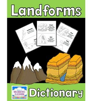 FREE Landforms Dictionary (or Coloring Book)This versatile set can be used as either a student Landforms dictionary or as a Landforms Coloring Book - it is your choice!I have included a cover for each, so you can use it how it suits you best.Your students will love putting together this Landforms Dictionary and using it as a resource during their Landforms Unit!The landforms included in this set are: archipelago beach canyon cave glacier grassland hills island lake mountains plateau pond…