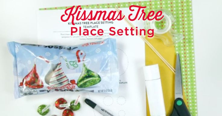 Add that final touch to your holiday table with a sweet KISSMAS Tree Place Setting! #SealitwithaKISS