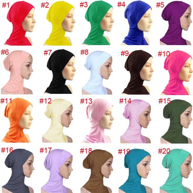 Baru Di Bawah Syal Topi topi Tulang Bonnet Kepala Memakai Penutup Leher Muslim Hijab Islamic