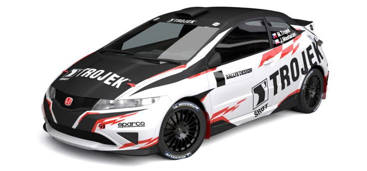 Trojek Racing - design and wrap for Honda Civic for season 2013.