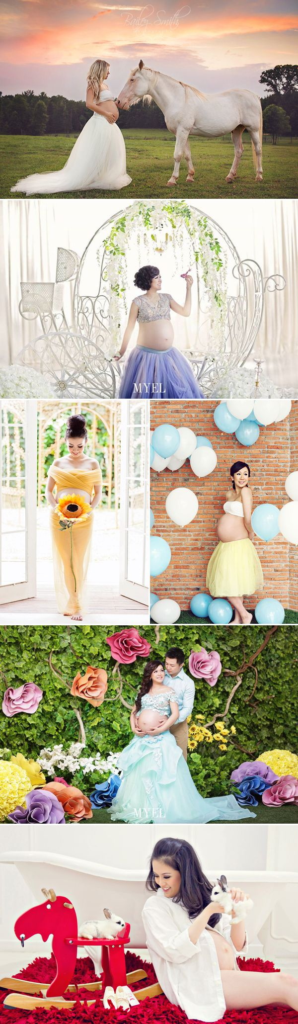 28 Modern and Captivating Themed Maternity Photo Ideas - Fairytale-inspired