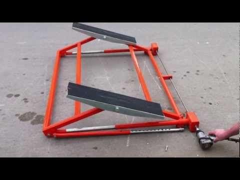 Car vehicle tilting lift ramp RING movement - YouTube