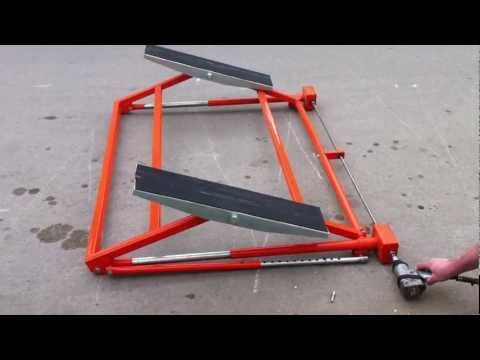Car Vehicle Tilting Lift Ramp Ring Movement Youtube