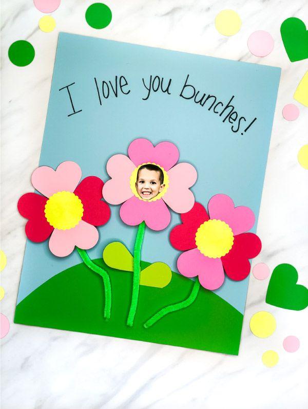 Flower Photo Preschool Craft Fun Valentine Crafts Preschool