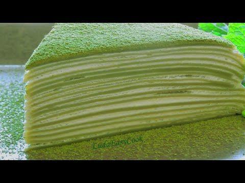 [EngSub] làm bánh Kếp Crepe Ngàn lớp Trà xanh Торт из блинов с кремом Matcha Crepe mille cake - YouTube