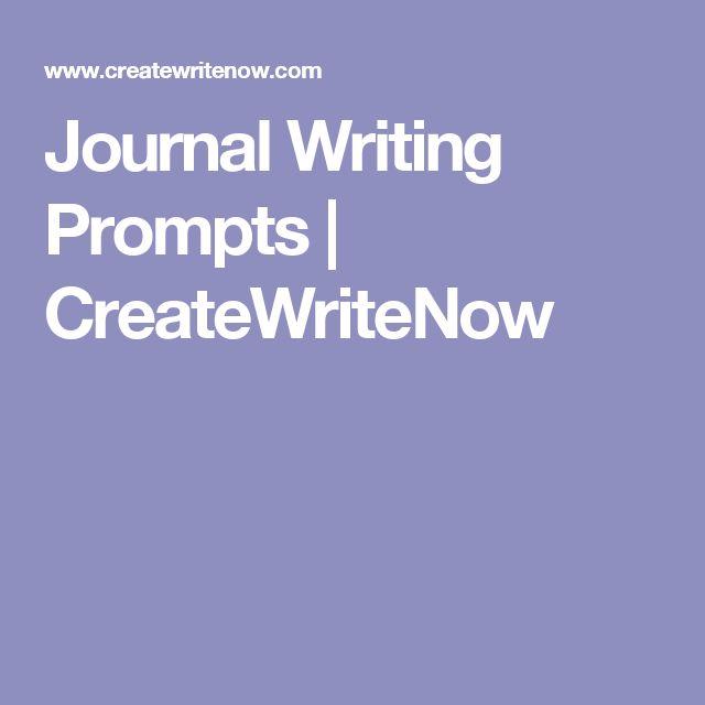 Journal Writing Prompts | CreateWriteNow