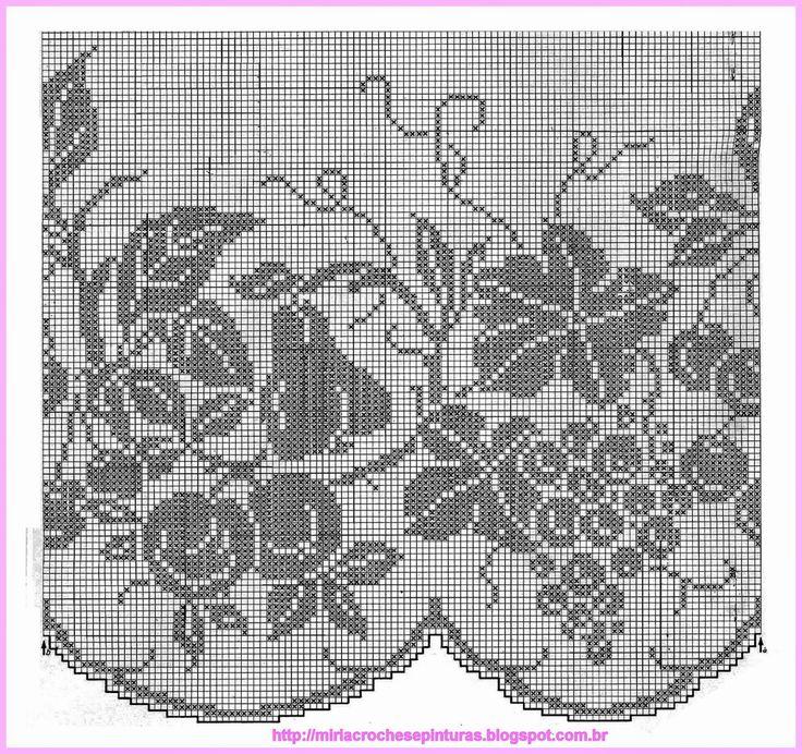 178 best κουρτινες images on Pinterest | Crochet curtains, Filet ...