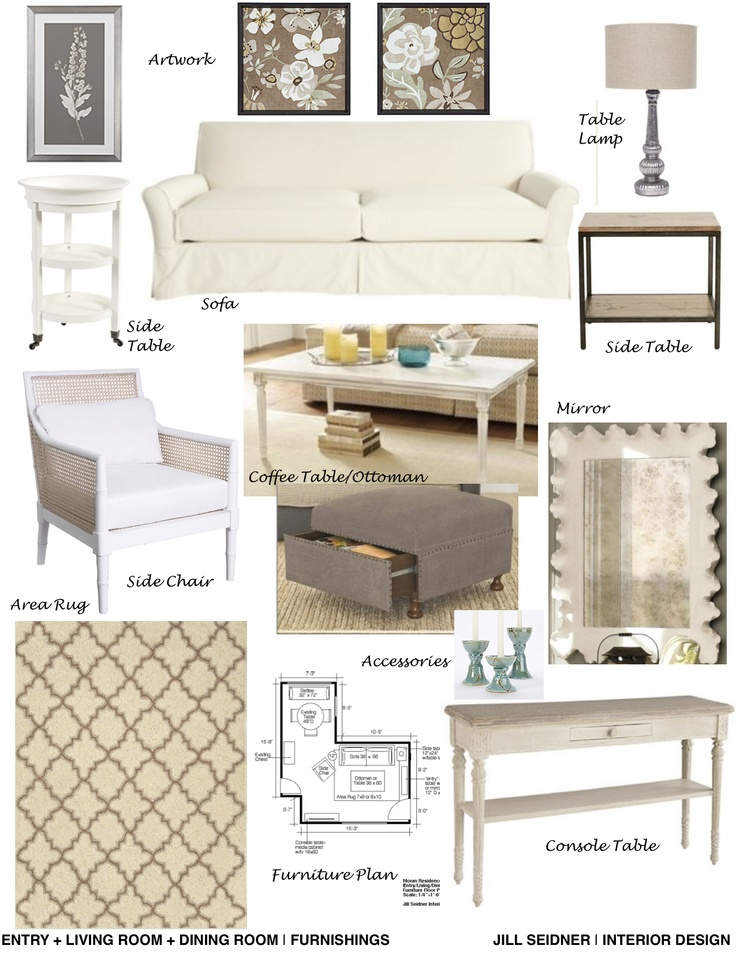 Furnishings Concept Board For Living Room. Interior Design ServicesInterior  ... Part 20
