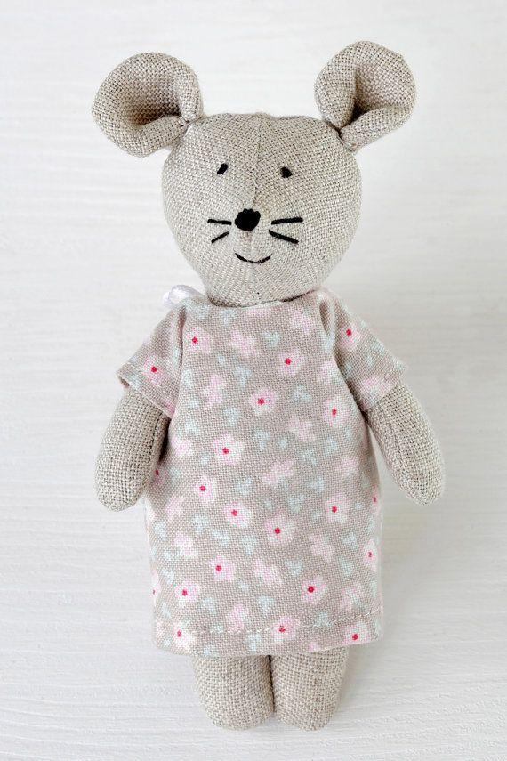Cute Little Cotton Mouse Toy 1 Sweet Mice by KrasnoludyZnadWisly