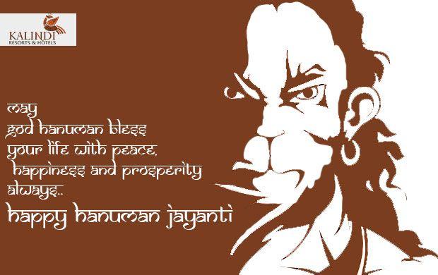 Happy Hanuman Jayanti to everyone from Team Kalindi Resorts