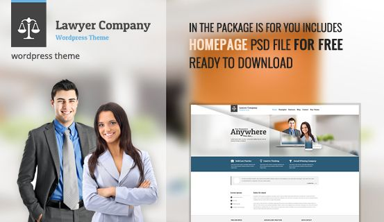 We're giving away #PSD file of #WordPress #Theme Lawyer for free. Package includes layered PSD file of Homepage.