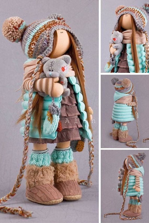 Tilda doll Handmade doll Cloth doll Soft doll by AnnKirillartPlace                                                                                                                                                                                 Más