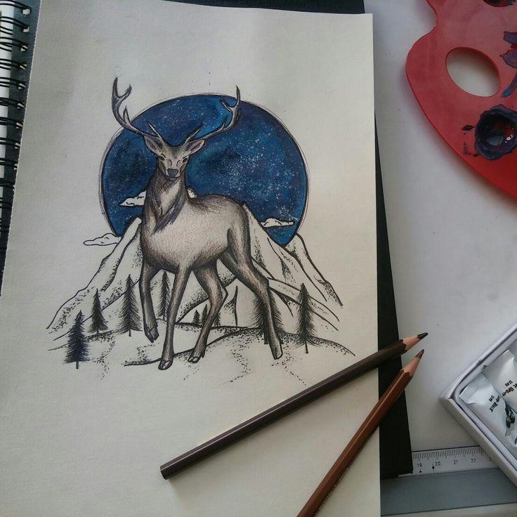 #deer #drawings #tattoodesign