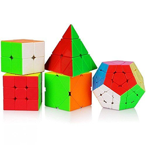 9a51ec9b3c3d Dreampark 5in1 Speed Cube Bundle 2x2 3x3 Megaminx Skew Pyramid ...