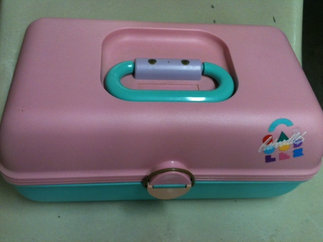 Vintage 1980s Caboodles Makeup Case {not sure how I feel about the 80's being referred to as vintage! LOL!}