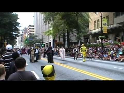 DragonCon Parade 2012 - Atlanta, GA: Star Wars, Mass Effect, Jedi, Storm Troopers 501st, Cosplay