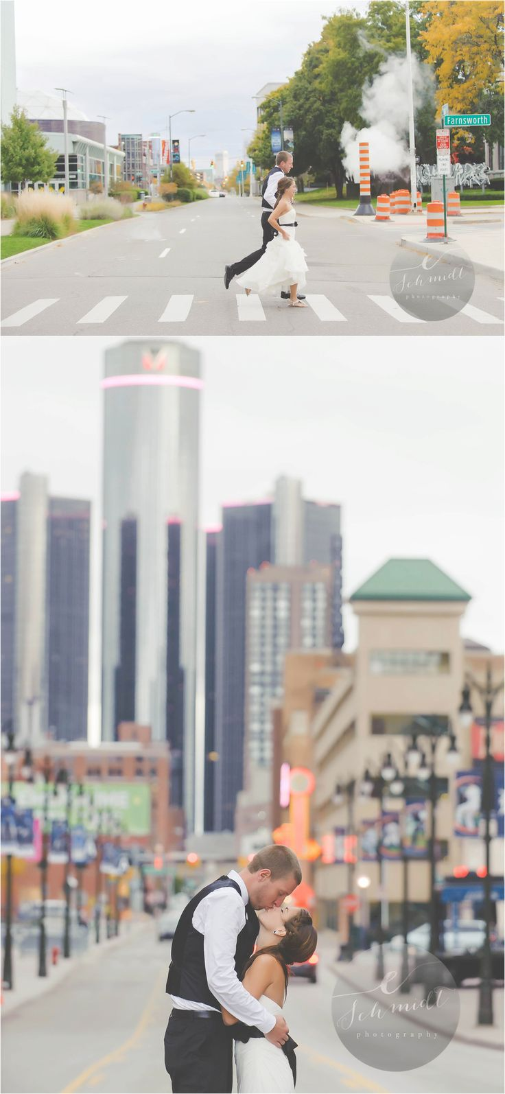 Downtown Detroit Wedding idea | E Schmidt Photography | Metro Detroit Wedding Photographer