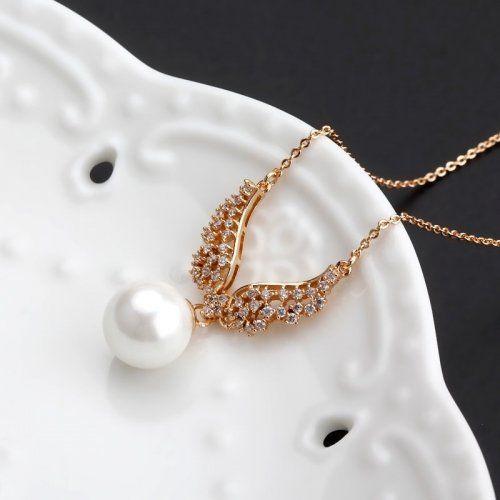 Divatos koreai stílusú angyal szárny aranyozott divat gyöngysor