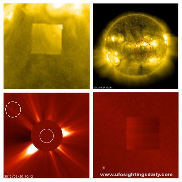 UFO SIGHTINGS DAILY: Giant Black Cube Orbiting The Sun Detected on NASAs SOHO photos, UFO Sighting News.