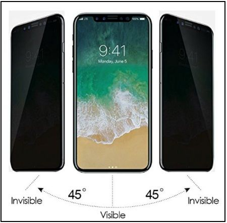 new concept 0b249 61116 Best iPhone X Privacy Screen Protectors Glass: Top Screen Filter for ...