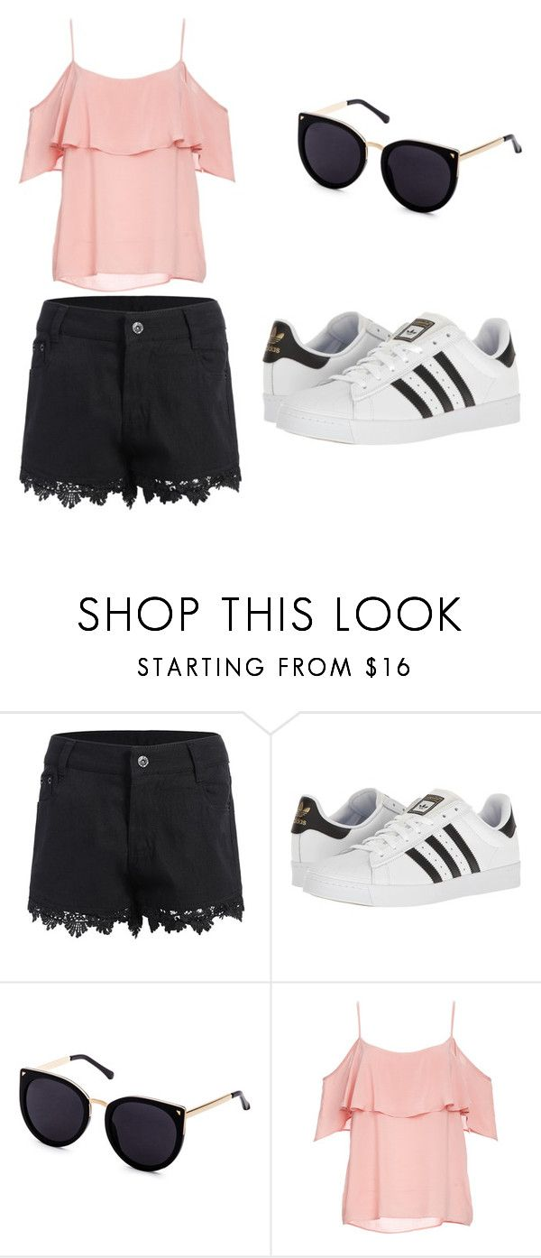 """""""My First Polyvore Outfit"""" by kaja-sadkowska ❤ liked on Polyvore featuring adidas and BB Dakota"""