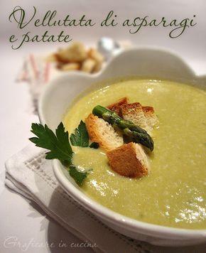 Vellutata di asparagi e patate http://blog.giallozafferano.it/graficareincucina/vellutata-di-asparagi-e-patate/