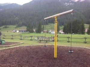 Il Parco giochi di Fontanazzo in Val di Fassa