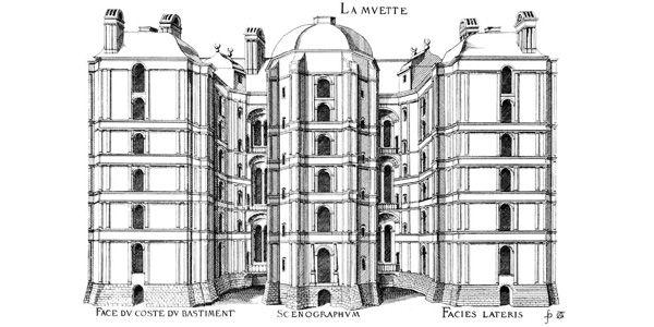 Les plus excellents bastiments de France : le château de La Muette (planches et gravures de JA du Cerceau, 1576)